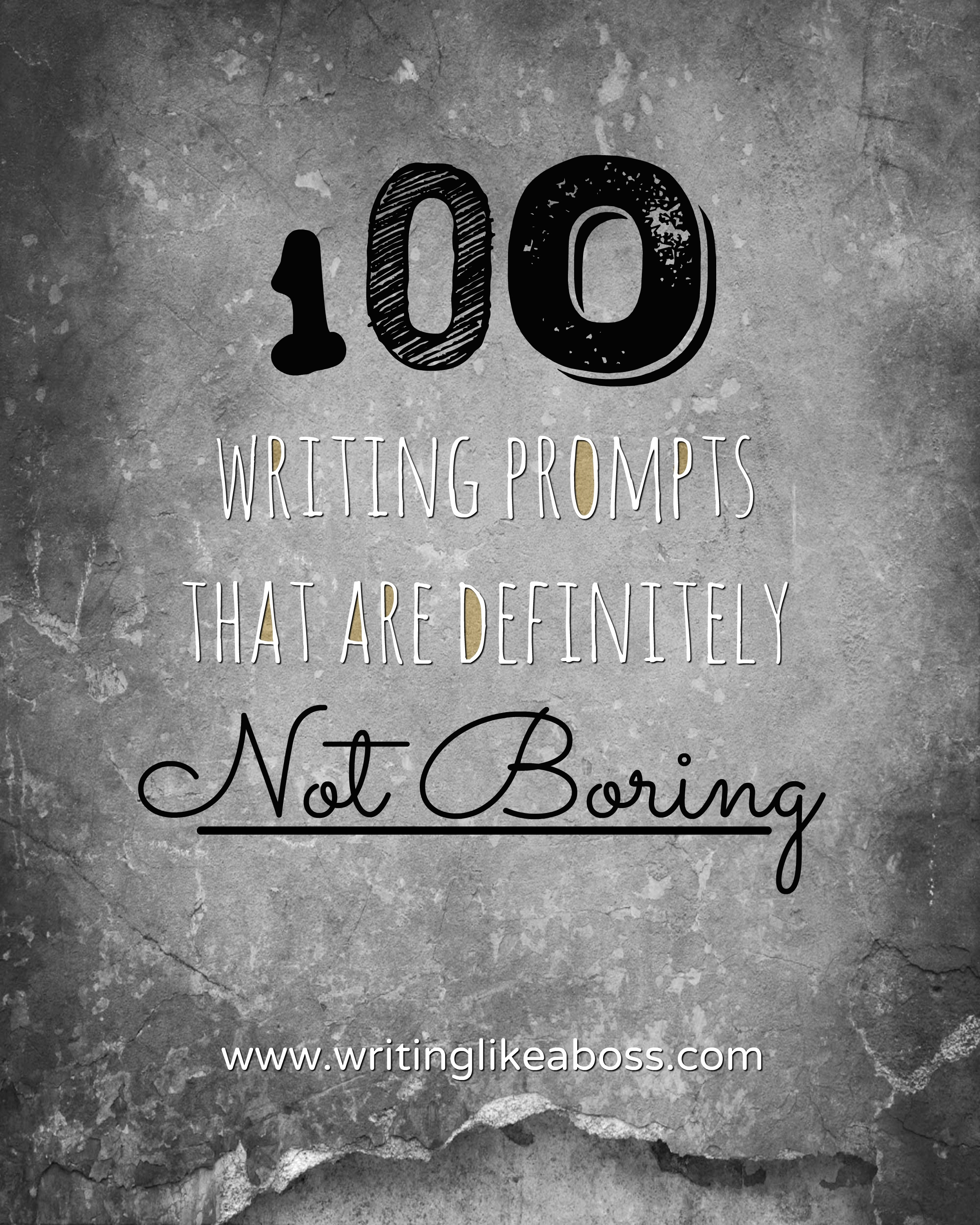 100 writing prompts The collection of prompts below asks young writers to think through real or imagined events, their emotions, and a few wacky scenarios try out the ones you think will resonate most with your students as with all prompts, inform students that their answers should be rated g and that disclosing.