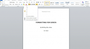 formatting-for-screen