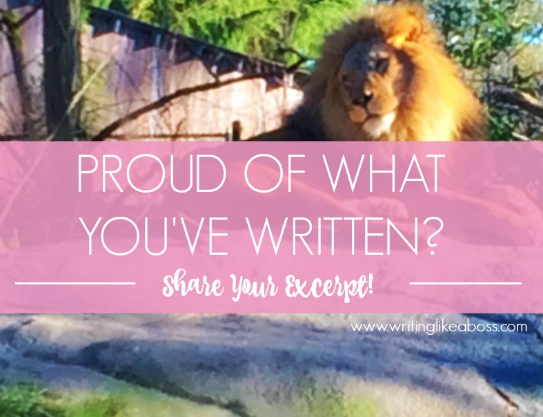 Proud of What You Wrote this Week? Share Your Excerpt!